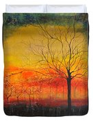 Orange Sky Duvet Cover