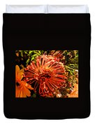 Orange Spice Floral  Duvet Cover