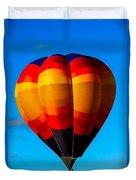 Orange Stipped Hot Air Balloon Duvet Cover
