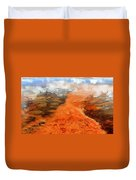 Orange Stones Duvet Cover