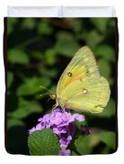 Orange Sulphur Duvet Cover