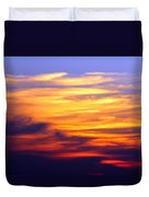 Orange Sunset Sky Duvet Cover