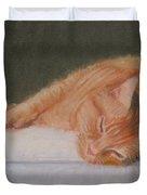 Orange Tabby Cat Duvet Cover