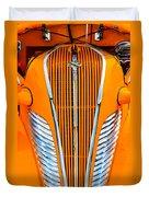 Orange Terraplane Duvet Cover