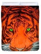 Orange Tiger Duvet Cover