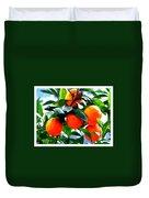 Orange Tree In Springtime  Duvet Cover