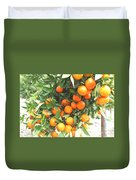 Orange Trees With Fruits On Plantation Duvet Cover