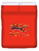 Orange Tulips Duvet Cover