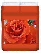 Orange Twist Rose 2 Duvet Cover