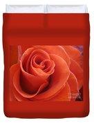 Orange Twist Rose 3 Duvet Cover