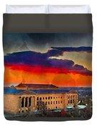 Orange Upon The Art Museum Duvet Cover
