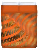 Orange Wave Duvet Cover