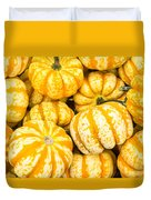 Orange Winter Squash On Display Duvet Cover