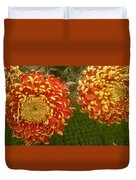 Orange-yellow Chrysanthemums Duvet Cover