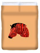 Orange Zebra Duvet Cover