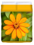 Orange Zenia Duvet Cover