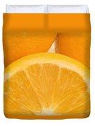 Oranges Duvet Cover by Darren Greenwood