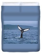 Orca Bitemarks On Humpback Tail Duvet Cover