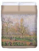 Orchard At Pontoise Duvet Cover by Camille Pissarro
