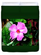 Orchard Colored Mandevilla Duvet Cover