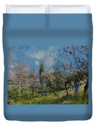Orchard In Spring Duvet Cover