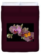 Orchid And Orange Butterfly Duvet Cover