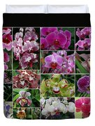 Orchid Collage 1 Duvet Cover