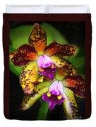 Orchid Elegance Duvet Cover