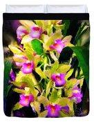 Orchid Flower Bunch Duvet Cover