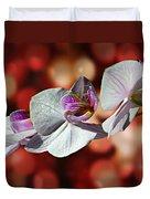 Orchid Flower Photographic Art Duvet Cover