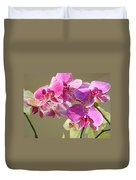 Orchid Flowers Art Prints Pink Orchids Duvet Cover