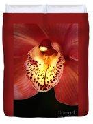 Orchid Macro Duvet Cover