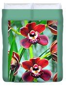 Orchid Rusty Duvet Cover by Marty Koch