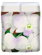 Orchid Splendor Painting Duvet Cover