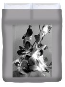 Orchids 2 Bw Duvet Cover