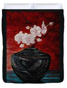 Orchids And Passion Duvet Cover