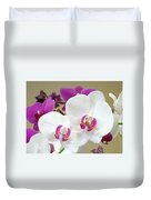 Orchids Floral Art Prints White Pink Orchid Flowers Duvet Cover