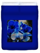 Orchids In Blue  Duvet Cover