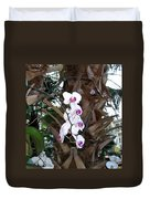 Orchids In The Opryland Hotel In Nashville Tennessee Duvet Cover