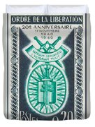 Order Of The 20th Anniversary Release 17 November 1940 To 1960 Patriam Servando Victoriam Tulit Duvet Cover