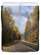 Oregon Autumn Highway Duvet Cover