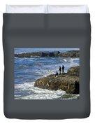 Oregon Coast Fishermen Duvet Cover