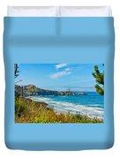 Oregon Coast Lighthouse Duvet Cover