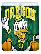 Oregon Ducks Barn Door Duvet Cover