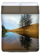 Oregon Dunes Pond Duvet Cover