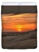 Oregon Dunes Sunset Duvet Cover