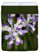 Oregon Irises In Bloom Closeup Duvet Cover