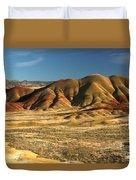 Oregon Painted Landscape Duvet Cover