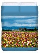 Oregon Tulip Farm - Willamette Valley Duvet Cover