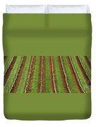 Oregon Vineyard Rows Panoramic Duvet Cover
